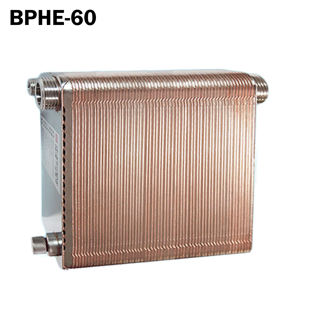 60 plates Brazed Plate Heat Exchanger SUS304 Stainless Steel,recirculating chiller fhc052 76 3 0 h original plate heat exchanger stainless steel brazing exchanger