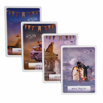 2019 New  knowledge oracle cards 52 cards/set  English mysterious fortune tarot cards game for girls family card game new knowledge wisdom oracle cards 52 cards set english mysterious fortune tarot cards game for girls family card game