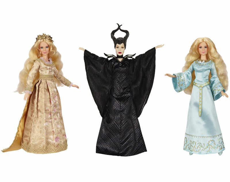 Original Maleficent Movie Collection Doll Dark Beauty Maleficent Beloved Royal Coronation Sleeping Beauty Dolls for Girls Toys