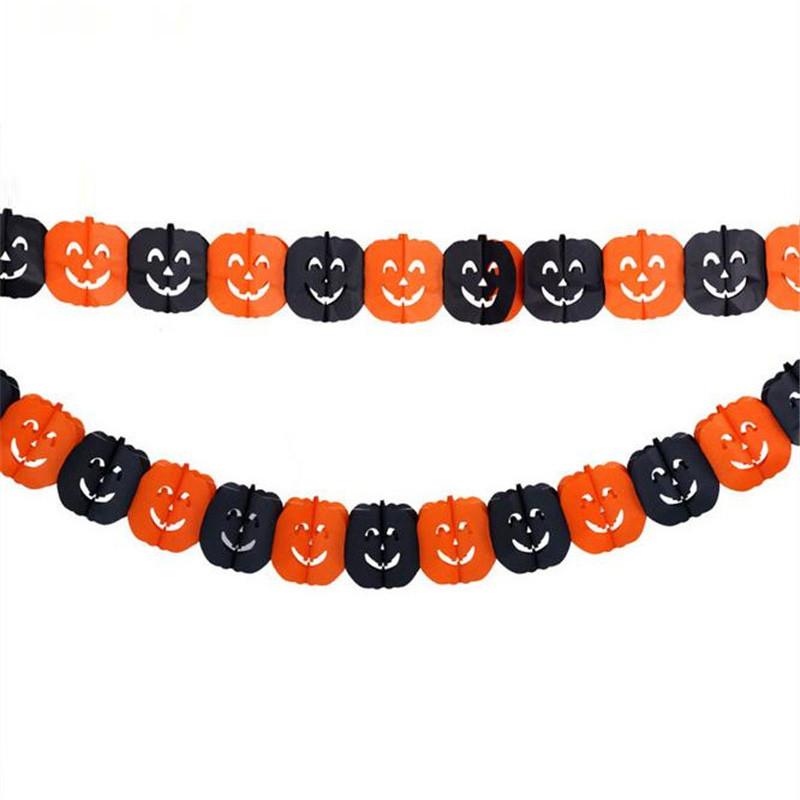 Halloween pumpkin garland banner5