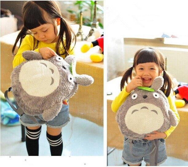 "New Cute My Neighbor Totoro Backpack Shoulder School Bag Soft Plush Stuffed 11"" Kids Child Christmas Festival Gift"