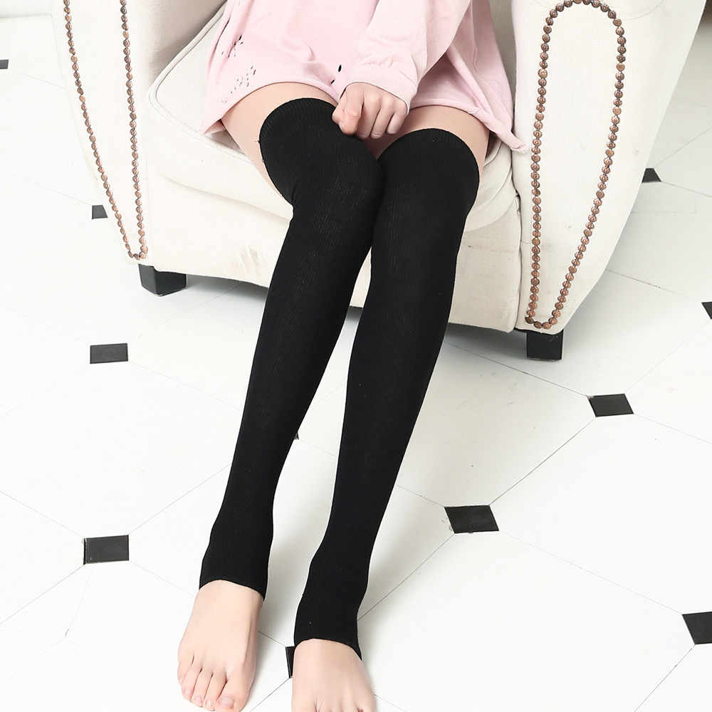 ใหม่ Breathable Lady การบีบอัดเข่าผู้หญิงถักถุงเท้ายาวเหนือเข่าสูง Slim ขาต้นขาถุงน่องใหม่แฟชั่นผู้หญิง