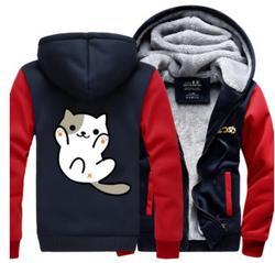 Spiel Neko Atsume Anime verdicken fleece jacke mantel hoodies hoodie