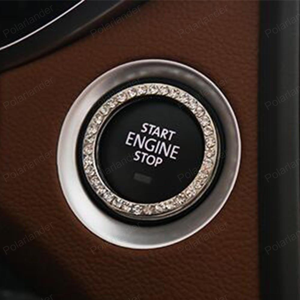 Ключ зажигания кольцо кристалл Двигатели для автомобиля выключатель стоп-старт чехол для ...