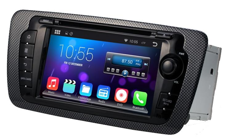 android 4 4 4 stereo for seat ibiza 2009 2013 gps radio navi headunit 1024 600 screen multimedia. Black Bedroom Furniture Sets. Home Design Ideas