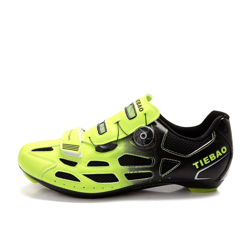 TIEBAO 6-1259 Hot Sale Professional Racing Cycling Shoes Unisex Breathable Compatible LOOK-KEO SPD Cleat Outdoor Road Bike Shoes tiebao professional road shoes rotating screw steel wire with fast cycling shoes road bike shoes tb16 b1259