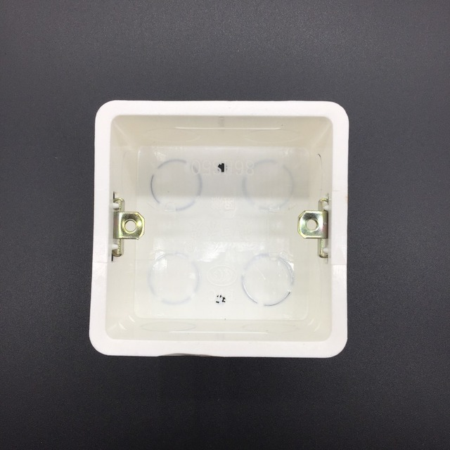 2pcs abs plastic wall plate wall mount junction box type 86 switch 2pcs abs plastic wall plate wall mount junction box type 86 switch cassette outlet wall switch sciox Choice Image