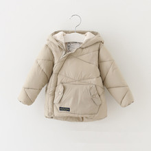 2 6 Years Old Baby Winter Thickened Hooded Pure Cashmere Cotton Padded Clothes Boy s Girl