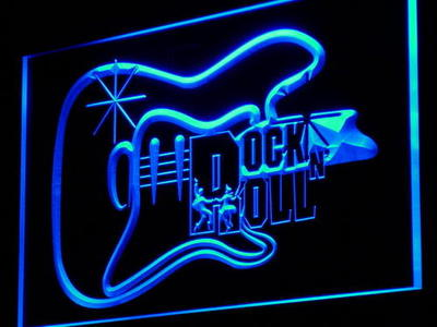 i948 Guitar Rock n Roll Dancer Music Gift Light Sign On/Off Switch 20+ Colors 5 Sizes
