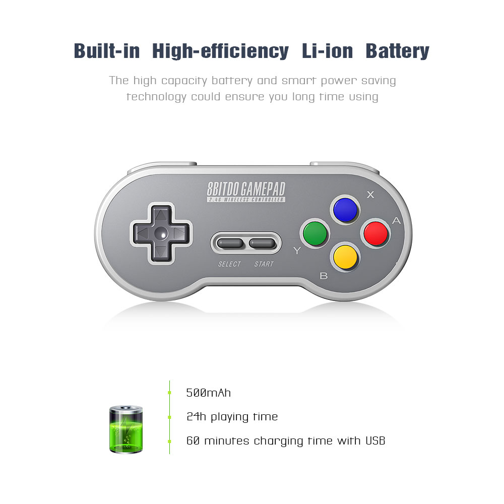 8BitDo SF30 Gamepad Wireless Game Controller with 2.4G NES Receiver for Android PC Mac 12