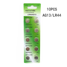 TBUOTZO BGREEN 10PCS Alkaline Battery AG13 1.5V LR44 386 Button Coin Cell Watch Toys Batteries Control Remote SR43 186 LR1142