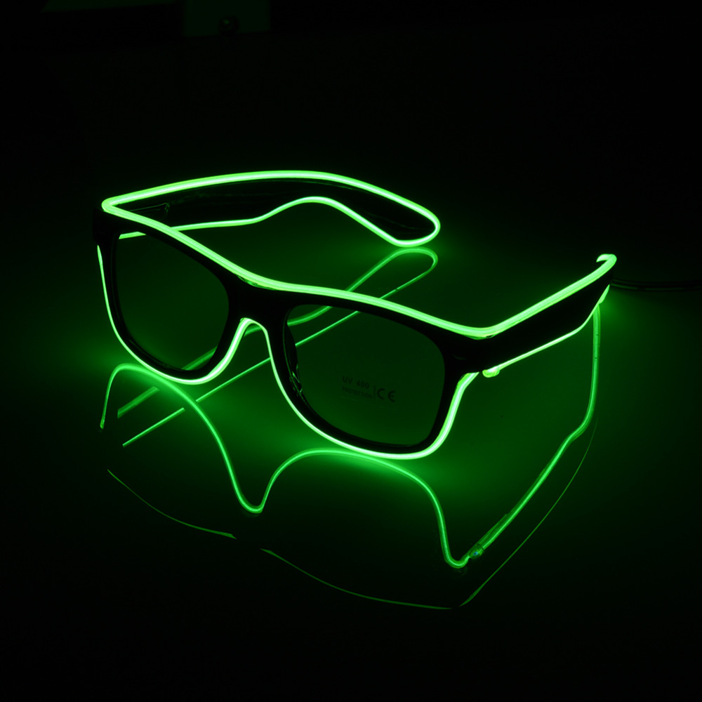Home & Garden Precise Flashing Glasses El Wire Led Glasses Glowing Party Supplies Lighting Novelty Gift Bright Light Festival Party Glow Sunglasses