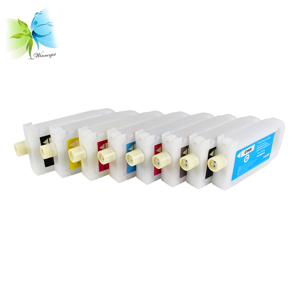 Winnerjet 8 Colors 700ml IPF 306 Empty Ink Cartridge with One Time Use Chip for Canon IPF 8400s 9400s Printer in Ink Cartridges from Computer Office