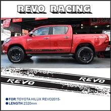 2 unid envío libre hilux revo racing side stripe gráfico calcomanías de Vinilo pegatinas para TOYOTA HILUX
