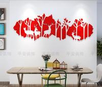 Acrylic 3d deers in forest wall stickers self adhesive living room bedroom TV background wall decoration Nordic decoration