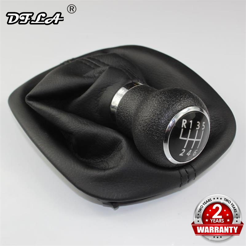 For VW Passat B5 1997 1998 1999 2000 2001 2002 2003 2004 2005 Car-Styling 6 Speed Car Gear stick Shift Knob With Leather Boot