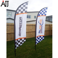 Rctimerロゴ250 × 50センチfpvレーシング旗ガラス繊維細身ロッドspeciallyブルーRCT-Flag-2