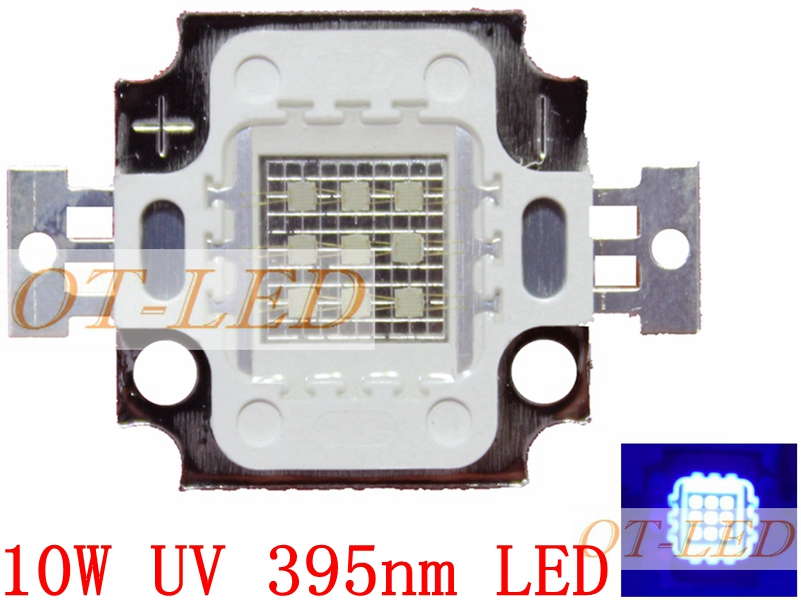 5pcs 10W High Power LED UV Light Chip 365nm 375NM 385nm 395nm 400nm 415nm 430nm Ultra Violet DIY 20w high power led uv ultra violet purple light chip 365nm 370nm 380nm 385nm 395nm 400nm 420nm 425nm led light source epileds