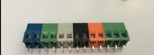 10ピース/ロット2極pbc端子kf/DC128、5.0ミリメートル、2 pことが黒、青、緑、オレンジ、グレー