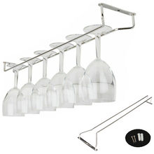 High quality useful 27/35/55cm Stainless Steel Wine Rack Glass Holder Hanging Bar Hanger Shelf(China)