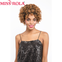 Miss rola Pre-Colored Human Hair Wigs omb30 /#4 Color Brazilian Kinky Curly Short Hair Wigs for black women 8inch