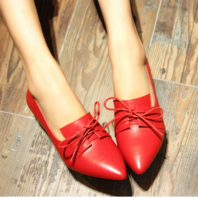 ФОТО 16 genuine leather with the single shoes plus size 41 - 43 42 44 small 30 31 32 33 thick heel pointed toe women's shoes