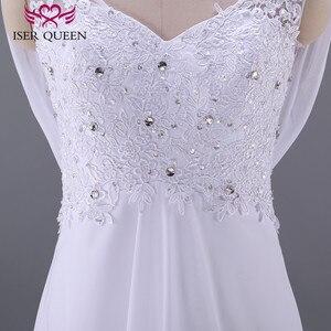 Image 4 - 패션 비치 웨딩 드레스 제국 임신 웨딩 드레스 다시 포장 플러스 크기 법원 기차시 폰 신부 드레스 w0125