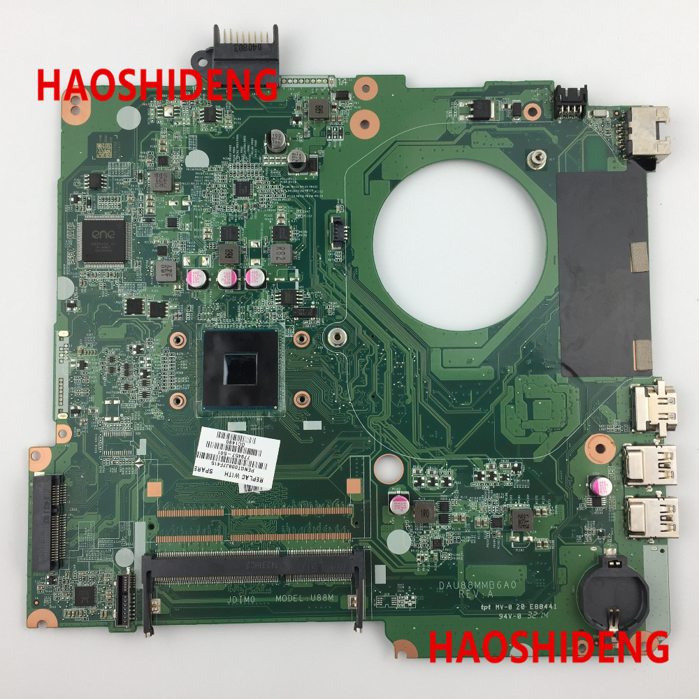 779457-501 U88 for HP Pavilion 15-N 15-F series Motherboard with N2830 cpu.All functions 100% fully Tested! 744009 501 744009 001 for hp probook 640 g1 650 g1 motherboard socket 947 hm87 ddr3l tested working