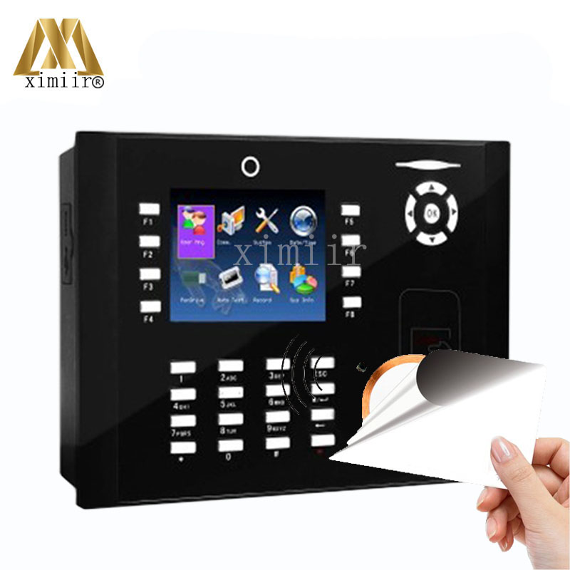 Hot Selling ZK M800 TCP/IP Time Attendance Time Clock With 13.56MHZ MF Card Reader Biometric Time Recording With Camera