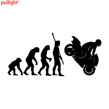 цены Fashion Human Evolution Motorcycle Car Stickers Personalized Vinyl Reflective Decals