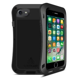 Image 2 - אהבת מיי מתכת מקרה עבור iPhone 7 8 בתוספת עמיד הלם טלפון Case כיסוי עבור iPhone 6 6 s בתוספת קטן מותניים מוקשח אנטי סתיו שריון מקרה
