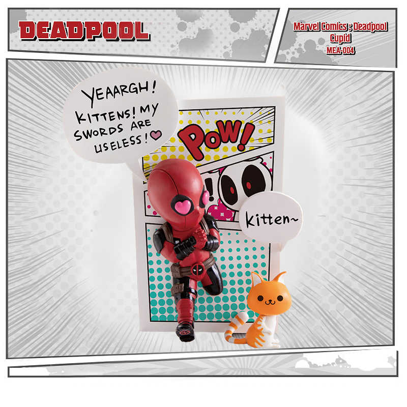 Deadpool Marvel Comics Série Coleção Limited Edition Mini Egg Ataque Modelo Boneca Figura de Ação de Super-heróis Brinquedos Presente Das Crianças