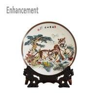 Цзиндэчжэнь Famille роза керамика пластины Новый Дизайн декоративная фарфоровая тарелка современный Гостиная ремесленных