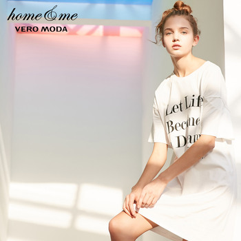 Vero Moda платье женское длинное платье-футболка с буквенным принтом | 318361515