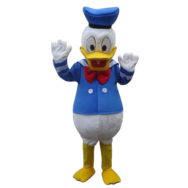 New Donald Duck Mascot Costume Cartoon Fancy Party Dress Free Shipping Adult