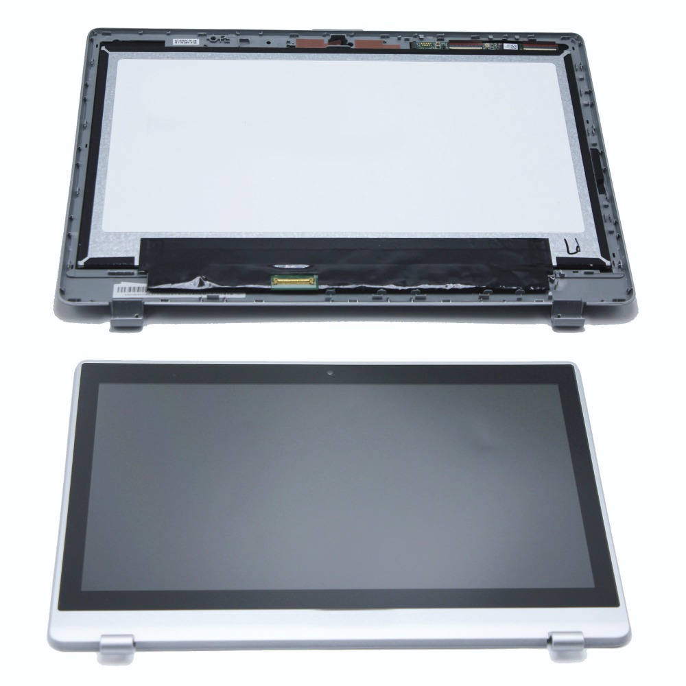 Laptop LCD Screen Display Touch Digitiser Glass Panel Assembly + Bezel B116XAN03.2 For Acer Aspire V5-122P Series V5-122P MS2377 new 15 6 inch for acer v5 561p laptop led lcd touch screen panel assembly display 1366x768