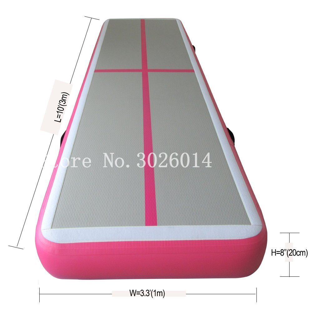 Free Shipping 3*1*0.2m Air Track Tumbling mat Inflatable Gymnastics airtrack with Electric Air Pump for Practice Gymnastics