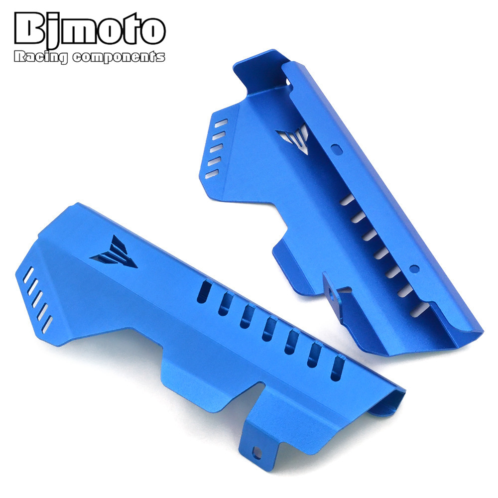 BJMOTO MT 07 MT-07 FZ 07 FZ-07 Motorcycle Radiator Side Cover Protector For Yamaha MT07 FZ07 2014-2017 Motorbikes Accessories for yamaha mt 07 fz 07 mt07 fz07 2014 2016 motorcycle accessories cnc aluminum engine protector guard cover frame slider blue