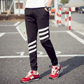 Marca de moda Mens Basculadores Sweatpants Casual Calças Harem Pants Tarja Patchwork Yeezy Impulso M-5XL Calças de Menino