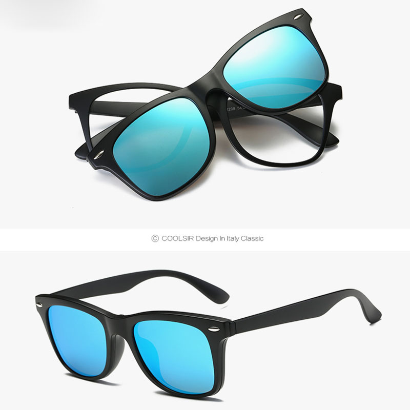 Sunglasses Over Prescription Glasses  vega 2 in 1 polarized magnetic clip on sunglasses over