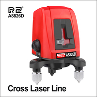 RZ Laser Levels 360 Laser Level Self Leveling Horizontal Vertical Rotary Mini 2 Line Lasers Bracket 3D A8826D Tripod Laser Level