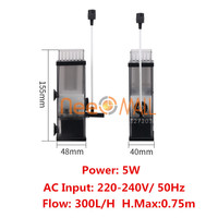 5W Aquarium Surface Protein Skimmer Oil Film Processor Oxygen Air Pump Slick For Fish Tank Water Plant Tank