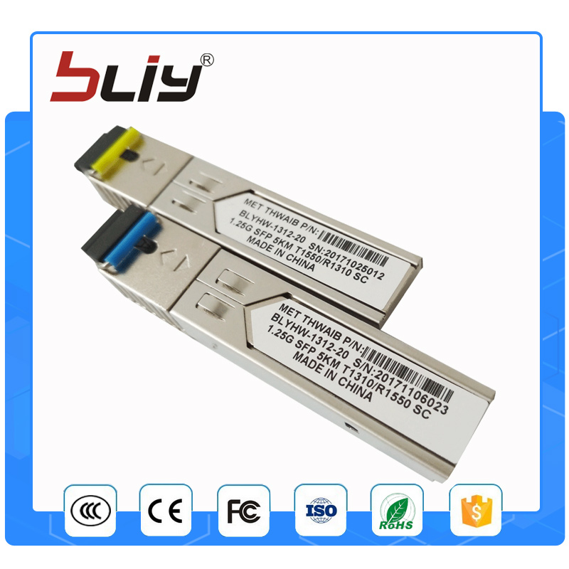 Connettore SC gigabit 5 km DDM BIDI mini gbic sfp modulo 1.25G Otdr modulo ottico tranceiver per mikrotik cisco compatibile