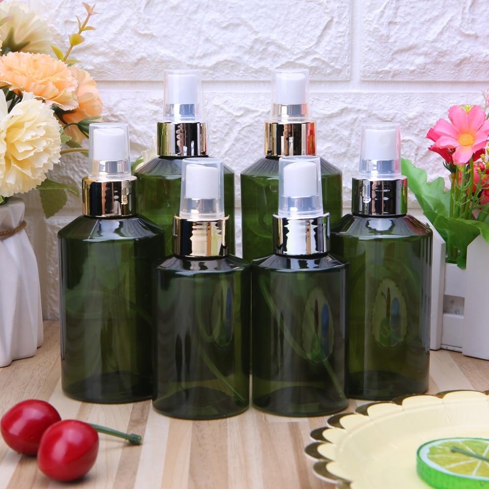 100/150/200ml Round Empty Spray Bottle Liquid Container Sprayer Plastic Aluminum Bottle