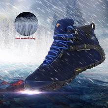 Onemix 2016 autumn winter men's outdoor sport shoes anti slip sport shoes and wool lining men hiking shoes warm trekking shoes