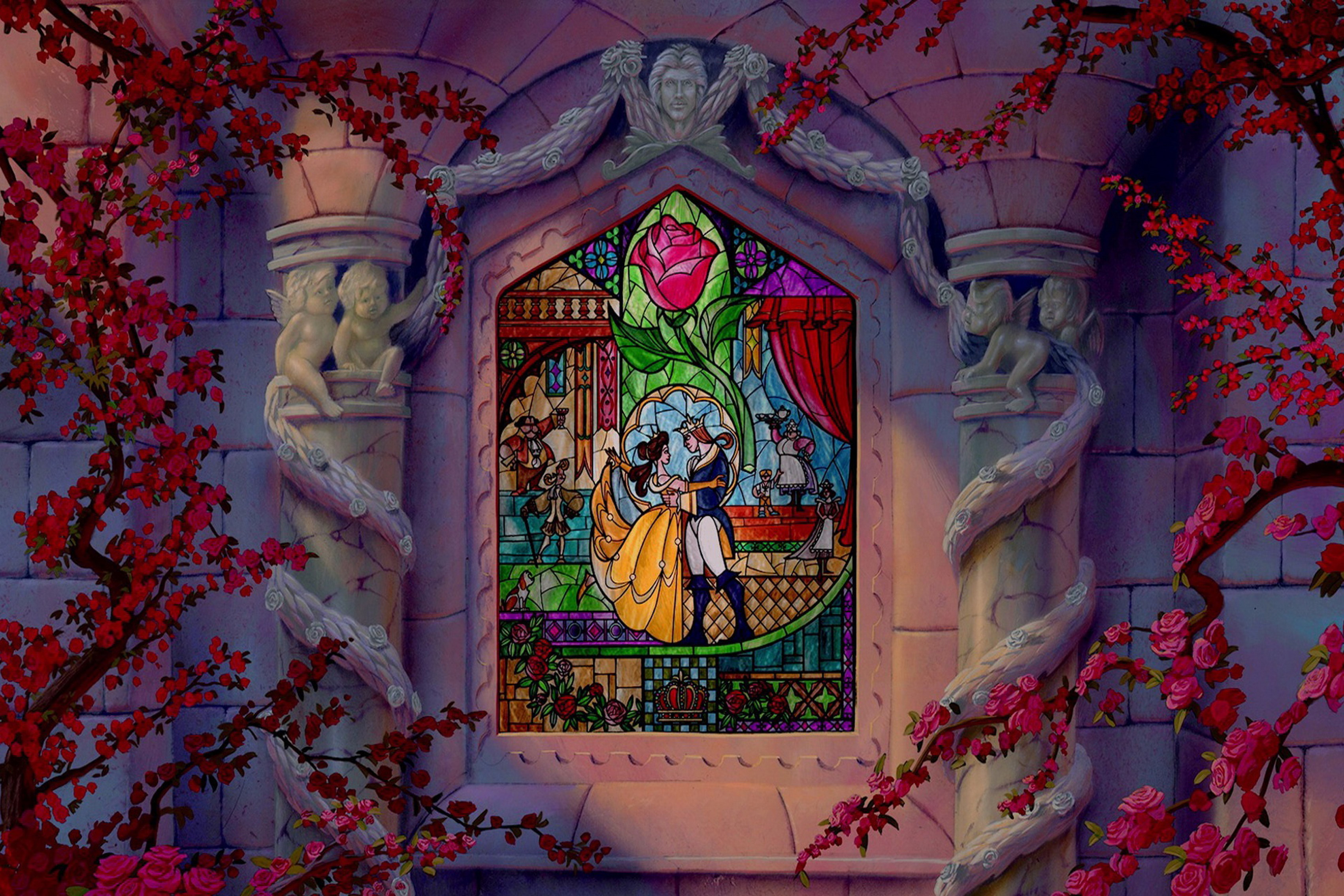 Beauty And Beast Fairy Tale Fantasy Living Room Home Art