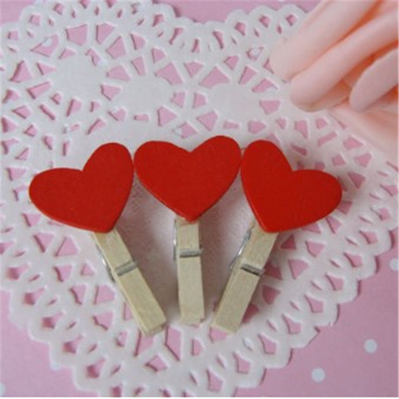 20pcs/lot New Mini Wood Memo Paper Clips For Photo Postcard  Clips Clothespin Craft Decoration Home Wedding