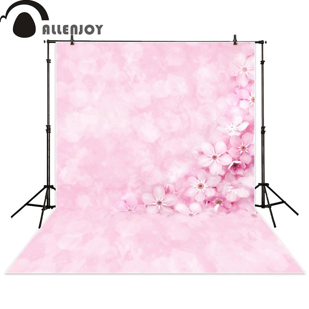 Allenjoy photography backdrop flower bokeh pink baby shower wedding newborn photo studio photocall background custom 130x150cm baby photo about 3d rose fabric photo blanket photography backdrop satin bridal wedding background rug