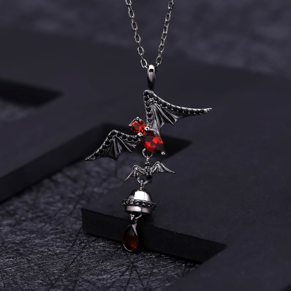 Image 4 - GEMS BALLET 925 Sterling Sliver Bat Shape Natural Garnet 