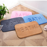 Coral Fleece Floor Carpet Memory Foam Bath Mats Slow Rebound Door Mat Water Absorbent Bathroom Rugs